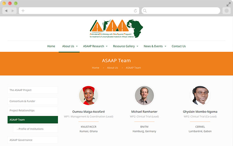 ASAAP Project - Team