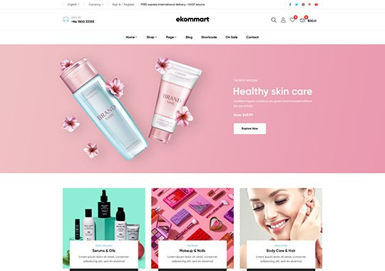 Beauty and Health Online Store