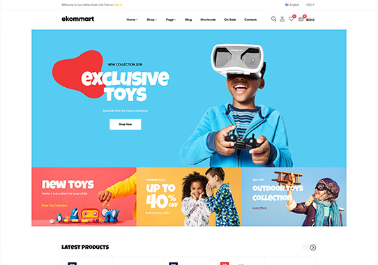 Toys and Kids Online Store